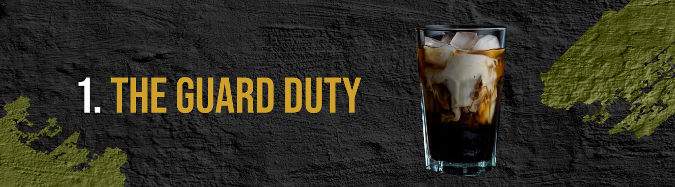 5 Military-Themed Cocktails - #1 The Guard Duty